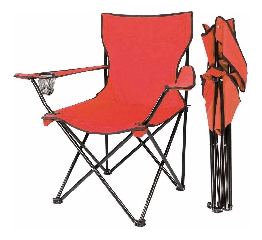 Porta Metal Plegable Estructura Camping Rojo Vas Silla Playa LAcj4q35R