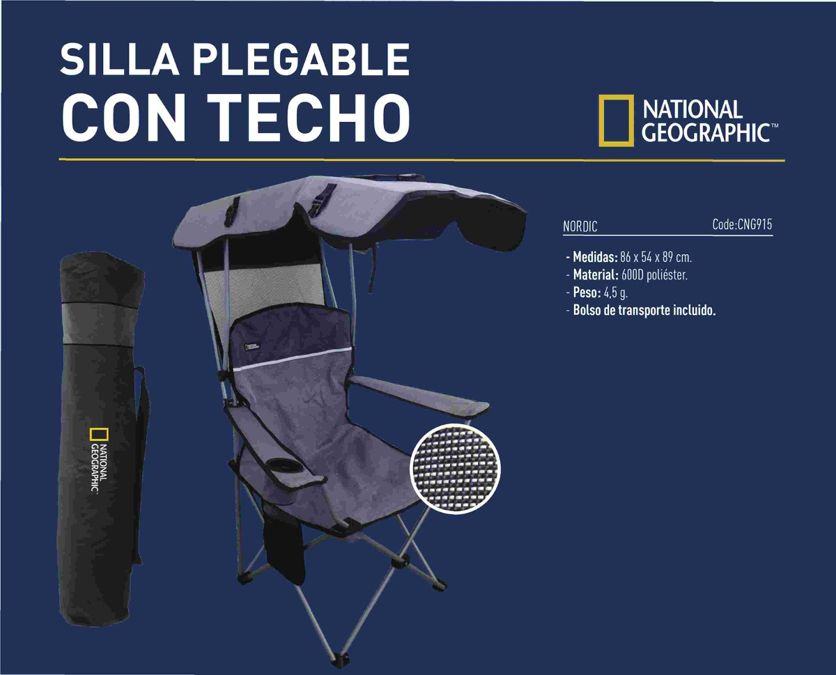 Silla Techo National Geographic Nordic Con Plegable hQCxrotdBs
