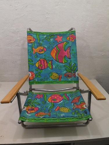 silla plegable de aluminio playera bajita #122