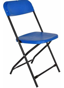 Silla De 10 Plástico Azul Plegable Kit DE9IW2YH