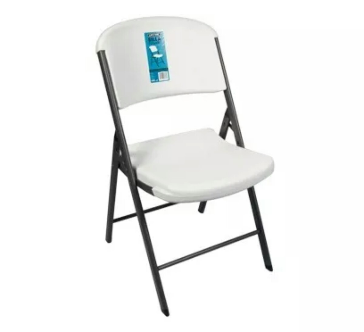Silla plegable de plastico lifetime en mercado for Sillas acolchadas precio