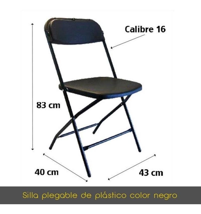Plegable Negro Plástico De Plegable De Plegable Silla Negro Plástico Silla Silla AcR354jLq