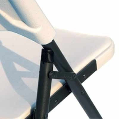 silla plegable de plastico y acero simple solution