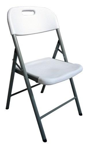 silla plegable de plastico y acero simple solution