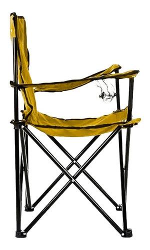 silla plegable de playa picnic azul con porta vasos