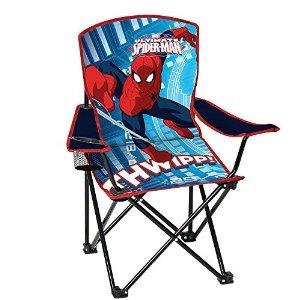 silla plegable juventud spiderman con apoyabrazos y la copa
