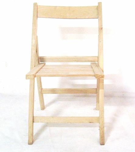 silla plegable madera dura mayorista