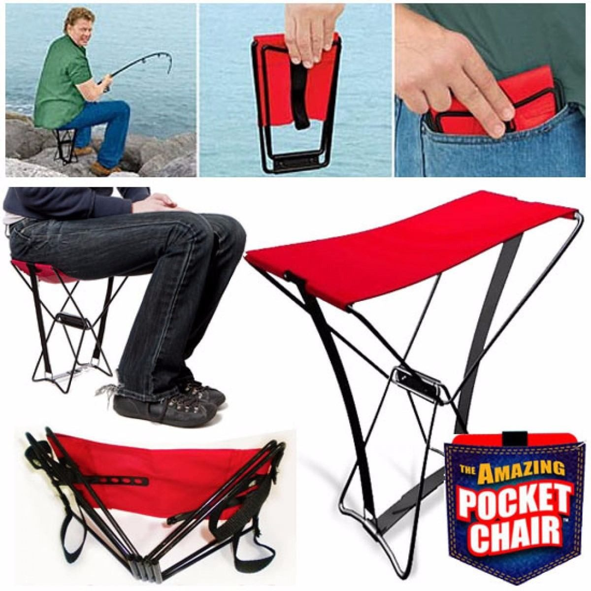 Plegable Mini Desarmable Silla Camping Portatil e9WEDH2IY