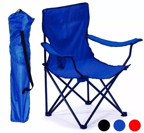 silla plegable para playa alberca camping outdoors azul