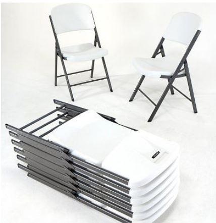 Silla plegable de plastico y acero lifetime gran for Sillas plastico diseno