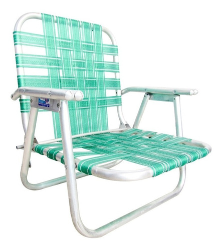 silla plegable playera camping aluminio nylon ecology