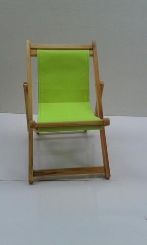 silla plegable playera infantil en pino