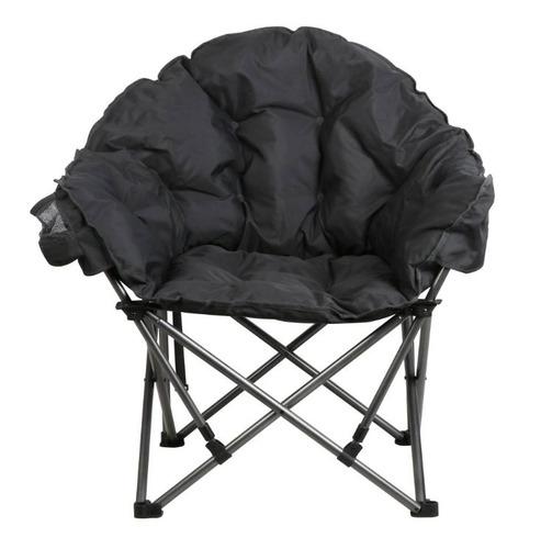 silla plegable portal tipo club gris oscuro