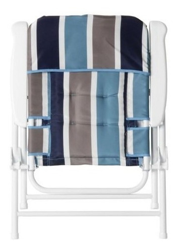 silla plegable  rayas azul