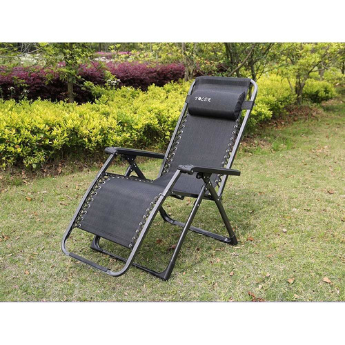 Silla plegable reclinable zero gravity 200kg camping - Silla camping plegable ...