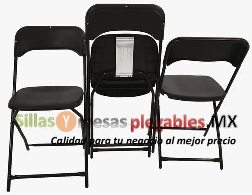 silla plegable reforzada en asiento y respaldo en plastico