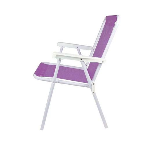 silla plegable reposera mor lila en acero playa jardín