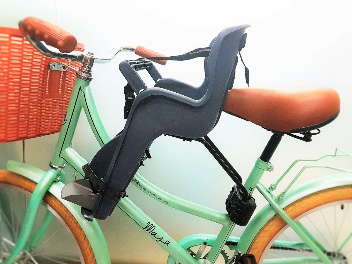Silla portabebe delantera para bicicleta 20kg ni os 2 5 for Silla nino bicicleta