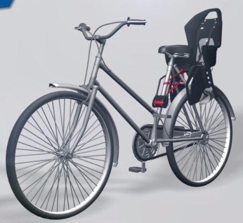 Silla Portabebe Koolah Polisport Bici Rin 26 27 5 29 Gris