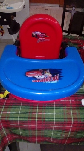 silla portatil para  comer de cars
