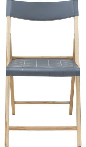 silla potenza de madera teca y plástico grafito tramontina