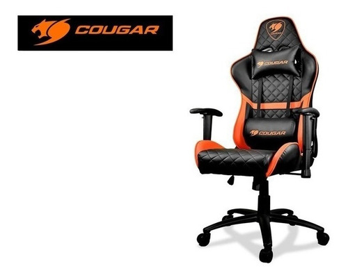 silla profesional gamer armor one cougar orange black nueva