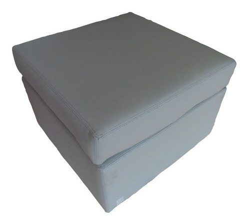 silla puff gris de estructura sólida umberto capozzi