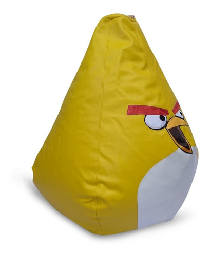 silla puff infantil  angry birds  en lona impermeable