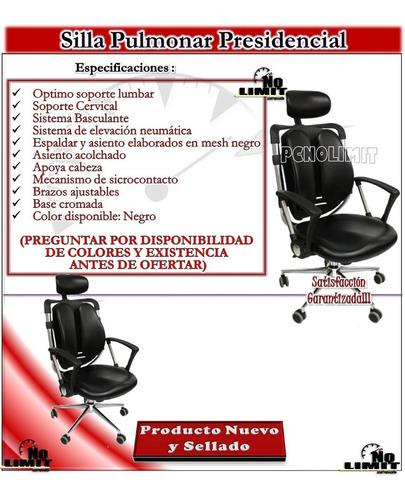 silla pulmonar presidencial, oficina sala pcnolimit mx