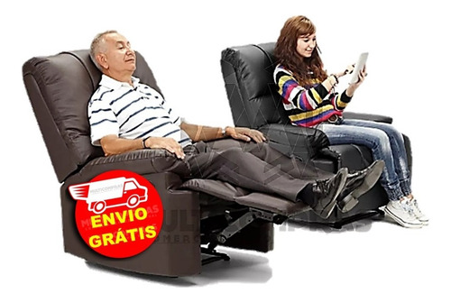 silla reclinable sala mobiliario relajante acolchonada x