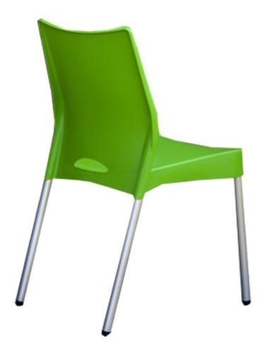 silla reforzada plastica apilable malba x4  uni baires4