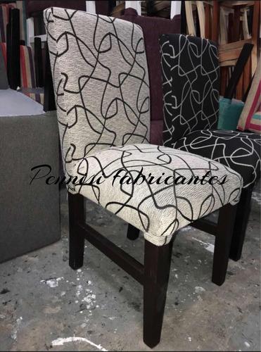 silla reforzada vestida tapizada chenille  fabrica