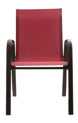 silla reposera de jardin exterior aluminio apilable en ramos