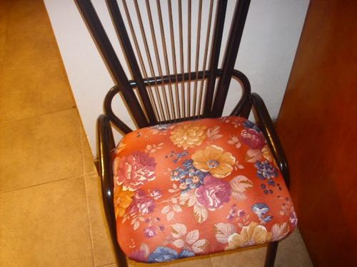 silla retro de caño y tapizado