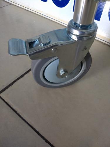 silla ruedas 3 en 1 comodo ducha baño wc posapies aluminio