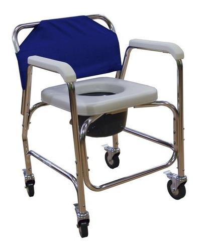 silla ruedas 3 en 1  comodo wc ducha  acojinado con respaldo