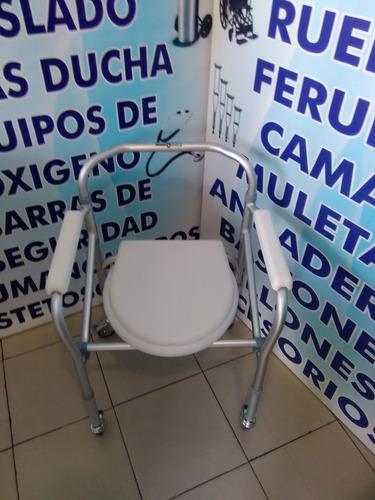 silla ruedas 3 en 1 comodo wc ducha aumento plegable