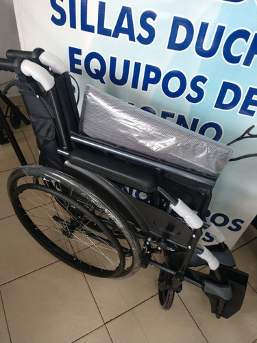 silla ruedas aluminio ligera plegable azul / gris / purpura