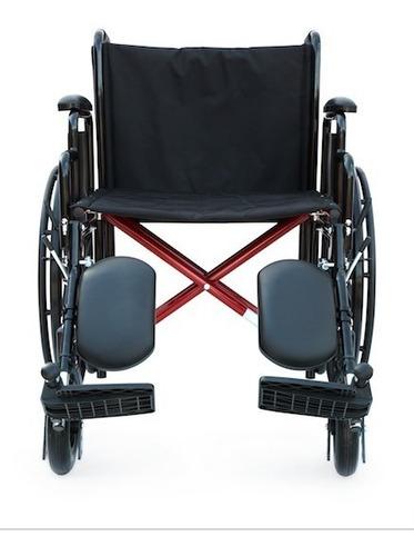 silla ruedas premium abatible desmontable elevapiernas 120kg