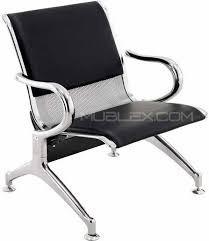 silla sala espera recibo recepcion acero y cromo 10135