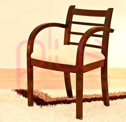 Silla para sala o recibo estilo poltrona de madera muebles for Estilos de muebles de madera