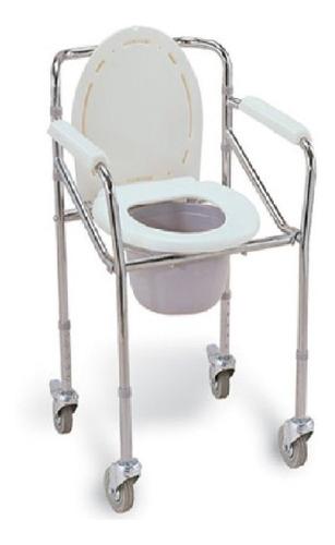 silla sanitaria en aluminio con ruedas honsun