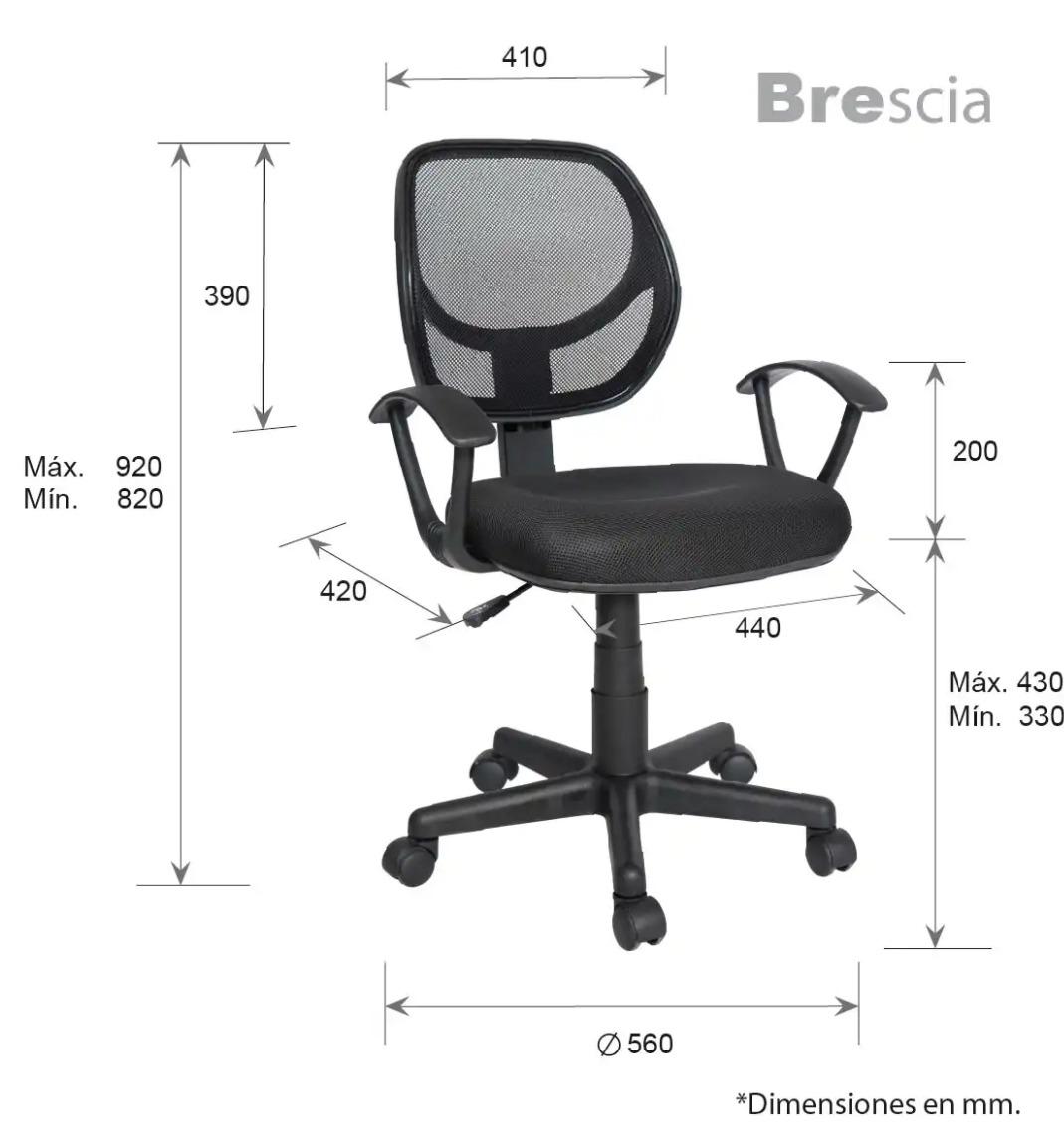 Silla Secretarial Operativa Respaldo Malla Ergonomica Bercia