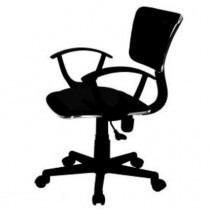 silla secretarial/oficina roma black