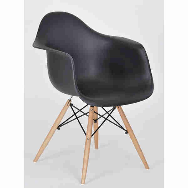 Silla eames hood descansabrazos sillas comedor moderna for Sillas comedor retro