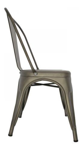 silla sillas tolix gris galvanizado y vintage importada