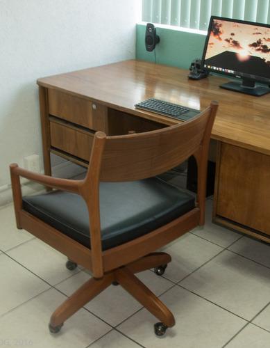 silla sillón de oficina con ruedas tipo van beuren edimburgo