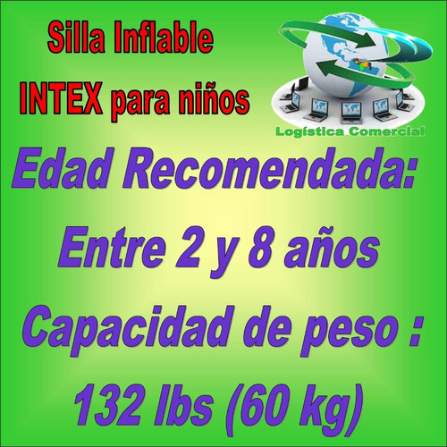 silla sillon inflable hogar casa intex animales 68556 colors