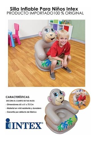 silla sillon inflable hogar casa intex animales 68556 colors