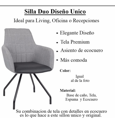 silla sillon premium diseño unico super comodo tela
